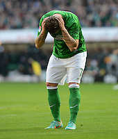 FUSSBALL   1. BUNDESLIGA  SAISON 2012/2013   6. Spieltag   SV Werder Bremen - FC Bayern Muenchen          29.09.2012 Marko Arnautovic (SV Werder Bremen)