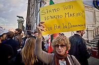 Manifestazione in Campidoglio contro le dimissioni di Ignazio Marino