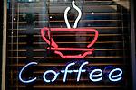 Coffee bar neon sign, Dublin, Ireland