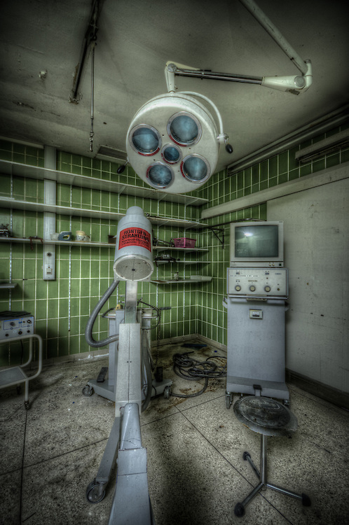 An old abandoned hospital somwhere in the former East Germany.<br /> X ray room