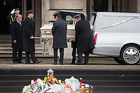 Queen Fabiola of Belgium - The hearse arrives at the Royal Palace in Brussels - Belgium