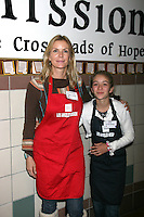 Katherine Kelly Lang & Daughter Zoe D'Andrea  at the LA Mission Thanksgivng Feeding of the Homeless in    Los Angeles, CA.November 26, 2008.©2008 Kathy Hutchins / Hutchins Photo....