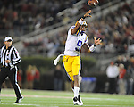 LSU quarterback Jordan Jefferson (9) passes vs. Ole Miss at Vaught-Hemingway Stadium in Oxford, Miss. on Saturday, November 19, 2011..