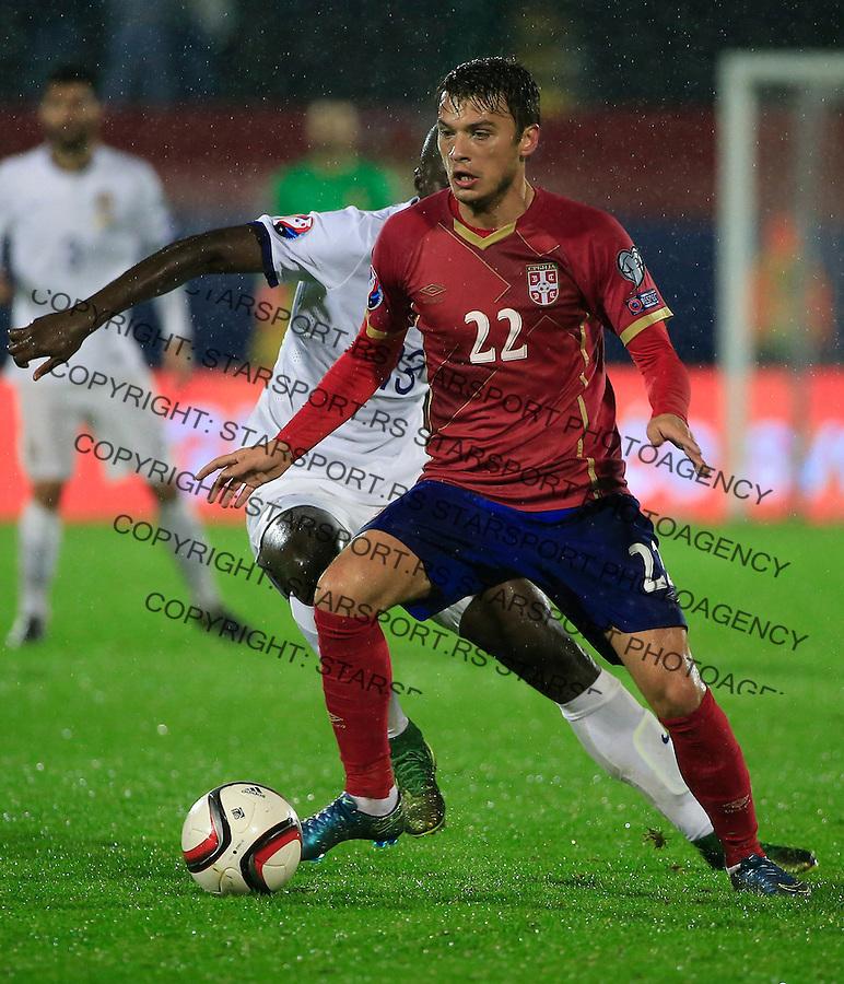 Fudbal, kvalifikacije za UEFA EURO 2016 qualifiers-Qualifying round - Group I<br /> Srbija v Portugal<br /> Adem Ljajic (R)<br /> Beograd, 11.10.2015.<br /> foto: Srdjan Stevanovic/Starsportphoto &copy;