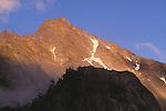 Alpenglow on Mercury Peak, Olympic National Park, Washington