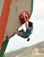 CALI - COLOMBIA - 04-08-2013: Mario Lechner de Austria en competencia de Escalada de Muralla en los IX Juegos Mundiales Cali, agosto 4 de 2013. (Foto: VizzorImage / Luis Ramirez / Staff). Mario Lechner from Austria in competition of Climbing Wall in the IX World Games Cali, August 4 2013. (Photo: VizzorImage / Luis Ramirez / Staff).