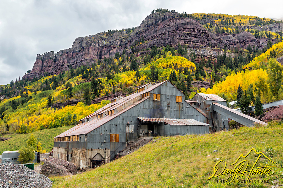 Idarado Pandora Mill in Autumn.  The San Juan Mountains have lots of old mining history.  Old mines, refurbished old towns, ghost towns etc.