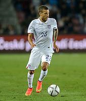 PRAGUE, Czech Republic - September 3, 2014: USA's Fabian Johnson during the international friendly match between the Czech Republic and the USA at Generali Arena.