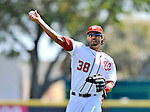 12 March 2011: Washington Nationals' outfielder Michael Morse warms up prior to a Spring Training game against the New York Yankees at Space Coast Stadium in Viera, Florida. The Nationals edged out the Yankees 6-5 in Grapefruit League action. Mandatory Credit: Ed Wolfstein Photo