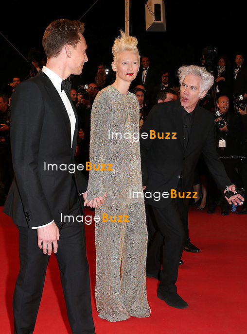 CPE/Actors John Hurt, Slimane Dazi, Tilda Swinton, Tom Hiddleston and director Jim Jarmusch attend the 'Only Lovers Left Alive' premiere during The 66th Annual Cannes Film Festival at the Palais des Festivals on May 25, 2013 in Cannes, France