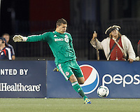 Toronto FC goalkeeper Joe Bendik (12). In a Major League Soccer (MLS) match, Toronto FC (white/red) defeated the New England Revolution (blue), 1-0, at Gillette Stadium on August 4, 2013.