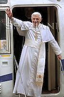 Arrive in Lorenzago di Cadore,Pope Benedict XVI  near Belluno, Italy, July 9, 2007
