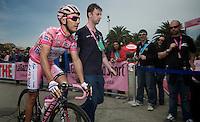 Giro d'Italia stage 13.Savano-Cervere: 121km..Joaquim Rodriguez arriving at sign-in
