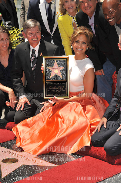 Actress/singer Jennifer Lopez on Hollywood Blvd where she was honored with the 2,500th star on the Hollywood Walk of Fame.<br /> June 20, 2013 Los Angeles, CA<br /> Picture: Paul Smith / Featureflash
