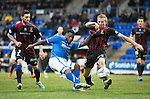 St Johnstone v Inverness Caledonian Thistle....22.02.14    SPFL<br /> Nigel Hasselbaink fires over the bar sqaundering another chance<br /> Picture by Graeme Hart.<br /> Copyright Perthshire Picture Agency<br /> Tel: 01738 623350  Mobile: 07990 594431