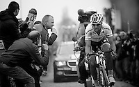 Paris-Roubaix 2012 ..Tom Boonen in the lead at Carrefour de l'Arbre