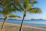 Kewarra Beach at dawn with Double Island in background.  Kewarra Beach, Cairns, Queensland, Australia