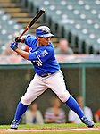 13 September 2008: Kansas City Royals' outfielder Jose Guillen at bat against the Cleveland Indians at Progressive Field in Cleveland, Ohio. The Royals defeated the Indians 8-3 in the first game of their rain delayed double-header...Mandatory Photo Credit: Ed Wolfstein Photo
