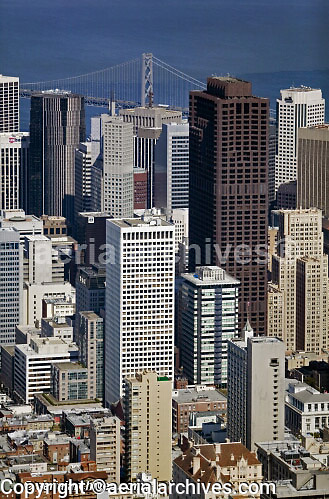 aerial photograph Bank of America Center 101 California Hartford Building San Francisco