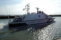 Guardia costiera nel mare di Fiumicino. Coast Guard in the sea of Fiumicino....