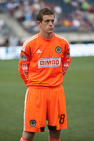 Zac MacMath of the Philadelphia Union before a match between Aston Villa FC and Philadelphia Union at PPL Park in Chester, Pennsylvania, USA on Wednesday July 18, 2012. (photo - Mat Boyle)