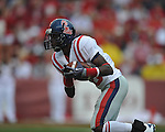Ole Miss wide receiver Jesse Grandy (10) returns a kickoff at Reynolds Razorback Stadium in Fayetteville, Ark. on Saturday, October 23, 2010.