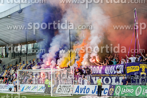 Fans of NK Maribor, Viole during football match between NK Maribor and NK Domzale in 36th Round of Prva liga Telekom Slovenije 2013/14, on May 25, 2014 in Stadium Ljudski vrt, Maribor, Slovenia. Photo by Urban Urbanc / Sportida