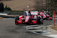 20-21 Febuary, 2012 Birmingham, Alabama USA.Dario Franchitti leads Scott Dixon.(c)2012 Scott LePage  LAT Photo USA