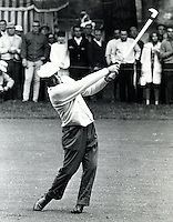 Ben Hogan approach shot during the U.S. Open golf tournament at the Olympic Club in 1966.photo: copyright 1966 Ron Riesterer