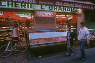 May 1989 --- Halal butcher in Marseille, market Boulevard Oddo. --- Image by © JP Laffont
