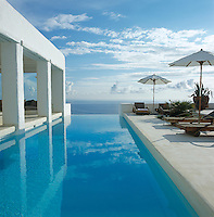 An infinity pool with views over the Mediterranean