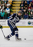 10 February 2017: University of New Hampshire Wildcat Defenseman AnthonyWyse, a Freshman from Newton, MA, in first period action against the University of Vermont Catamounts at Gutterson Fieldhouse in Burlington, Vermont. The Wildcats came from behind to defeat the Catamounts 4-2 in the first game of their 2-game Hockey East Series. Mandatory Credit: Ed Wolfstein Photo *** RAW (NEF) Image File Available ***