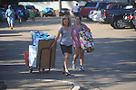 University of Mississippi freshman Mary Haley Flautt (right) of Greenwood, Miss. and her mother Katherine Flautt carry items as students began moving into Stockard-Martin Dorm  in Oxford, Miss. on Friday, August 19, 2011. Classes begin on Monday, August 22, 2011.