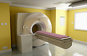 A MRI (Magnetic Resonance Imaging) scanner room. Royalty Free