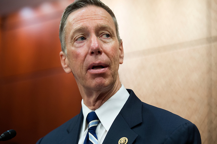 UNITED STATES - JUNE 02: Rep. Stephen Lynch, D-Mass., conducts a news conference in the Capitol Visitor Center on legislation that calls for disclosure of 28 blacked out pages of the 9/11 report to Congress on the terrorist attacks, June 2, 2015. (Photo By Tom Williams/CQ Roll Call)