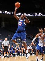 Sidiki Johnson at the NBPA Top100 camp at the John Paul Jones Arena Charlottesville, VA. Visit www.nbpatop100.blogspot.com for more photos. (Photo © Andrew Shurtleff)