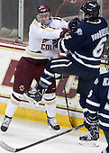 Michael Sit (BC - 18), Trevor van Riemsdyk (UNH - 6) - The Boston College Eagles defeated the visiting University of New Hampshire Wildcats 6-2 on Friday, December 6, 2013, at Kelley Rink in Conte Forum in Chestnut Hill, Massachusetts.