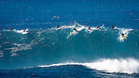 Waimea Bay, North Shore, Oahu, Hawaii (Wednesday, February 10 2016): kai Lenny (HAW) - The Quiksilver In Memory of Eddie Aikau was given the Green light 'Go' signal two days ago with a forecasted big swell due to hit on Wednesday morning. Everything was put in place for the event to kick off with some contestants flying into Hawaii from Chile, France, Australia and the US mainland. Unfortunalty the predicted swell failed to arrive as predicted as the storm front moved North of the islands forcing the postponement . <br /> Photo: joliphotos.com