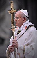 Pope Francis  Chrismal mass in the morning of Holy Thursday at St Peter's basilica.March 28,2013