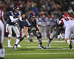 Ole Miss offensive lineman Jared Duke (74)  vs. Louisiana-Lafayette in Oxford, Miss. on Saturday, November 6, 2010. Ole Miss won 43-21.