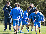 St Johnstone Training&hellip;.30.09.16<br />Manager Tommy Wright and assistant Callum Davidson pictured during training this morning<br />Picture by Graeme Hart.<br />Copyright Perthshire Picture Agency<br />Tel: 01738 623350  Mobile: 07990 594431