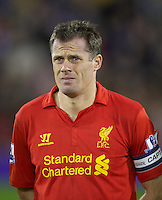 WEST BROMWICH, ENGLAND - Wednesday, September 26, 2012: Liverpool's captain Jamie Carragher before the Football League Cup 3rd Round match against West Bromwich Albion at the Hawthorns. (Pic by David Rawcliffe/Propaganda)