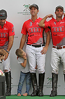 WELLINGTON, FL - MARCH 12:  Gonzalito Pieres and Tomas Pieres of Audi. Scenes from the early rounds of the 26 goal USPA Gold Cup at the International Polo Club, Palm Beach on March 12, 2017 in Wellington, Florida. (Photo by Liz Lamont/Eclipse Sportswire/Getty Images)