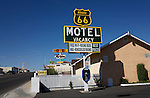 Route 66 in Barstow, California. .A trip through parts of Route 66 from Southern California to Arizona.