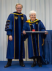 Jan. 27, 2014; University of Notre Dame President Rev. John Jenkins, C.S.C. confers an honorary Doctor of Laws degree on Maria Voce at the Notre Dame Rome Centre.<br /> <br /> Photo by Matt Cashore/University of Notre Dame