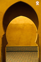 Morocco, Meknes, entrance to Moulay Ismail Mausoleum (Licence this image exclusively with Getty: http://www.gettyimages.com/detail/82406707 )