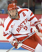 Ryan Weston (BU - 9) - The Boston University Terriers defeated the University of Maine Black Bears 1-0 (OT) on Saturday, February 16, 2008 at Agganis Arena in Boston, Massachusetts.