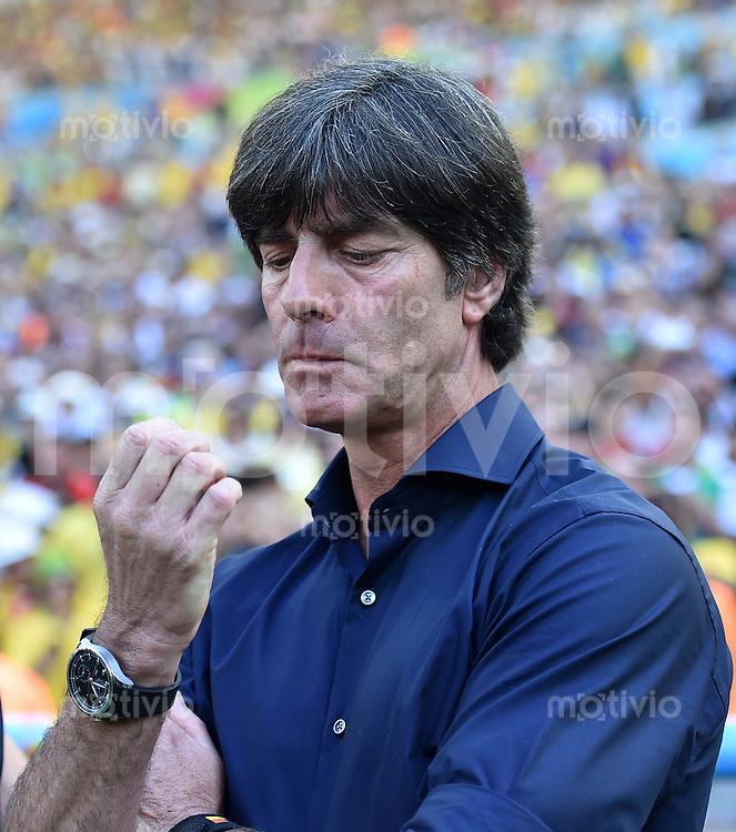 FUSSBALL WM 2014                VIERTELFINALE Frankreich - Deutschland           04.07.2014 Bundestrainer Joachim Loew (Deutschland)