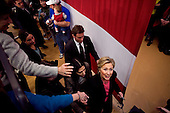 Manchester, New Hampshire.January 6, 2008..Hillary Clinton campaigns for President..