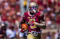 TALLAHASSEE, FLA 9/10/16-Florida State's Jesus &quot;Bobo&quot; Wilson makes a 89-yard punt return for the Seminole's fourth touchdown against Charleston Southern during first quarter action Saturday at Doak Campbell Stadium in Tallahassee. <br /> COLIN HACKLEY PHOTO
